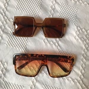 Two pairs of retro sunglasses